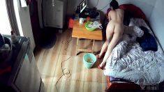 家庭實況360監控拍長腿美女洗完澡全裸出鏡 這皮膚真嫩 身材真性感