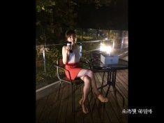 在露天咖啡廳約的韓國妹