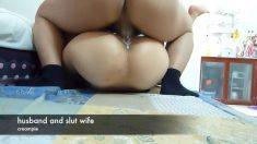 老公和淫蕩的老婆,愛液流滿床